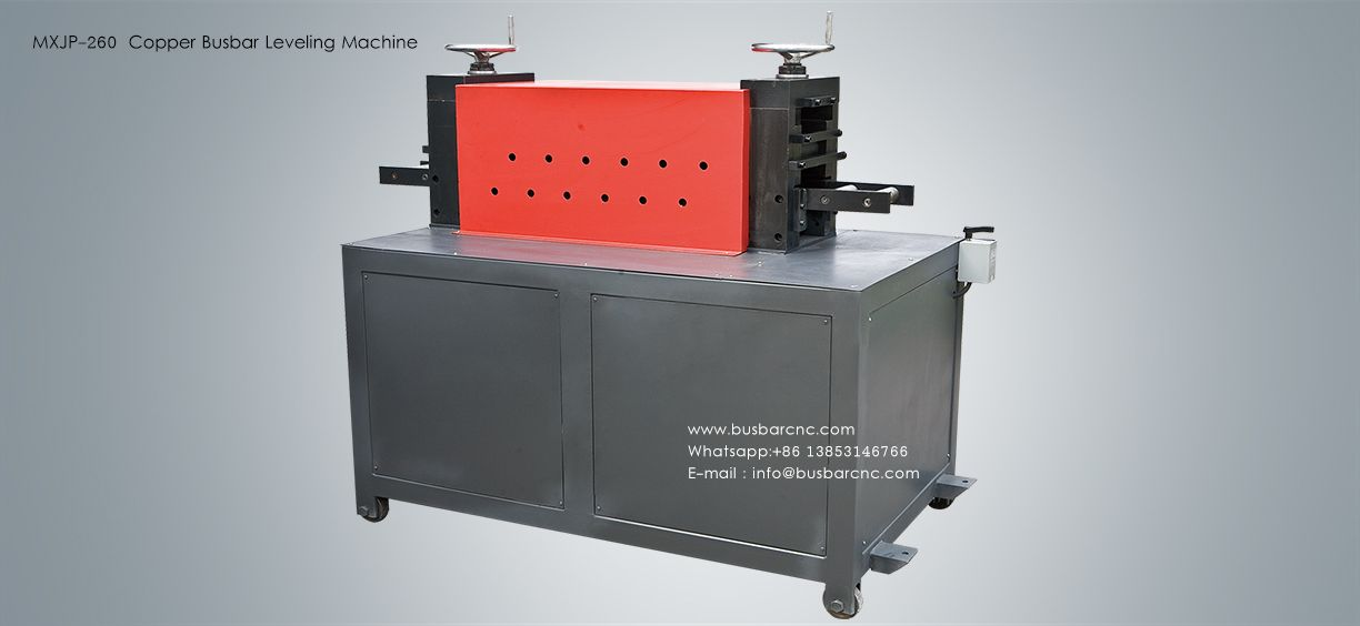 copper busbar leveling machine